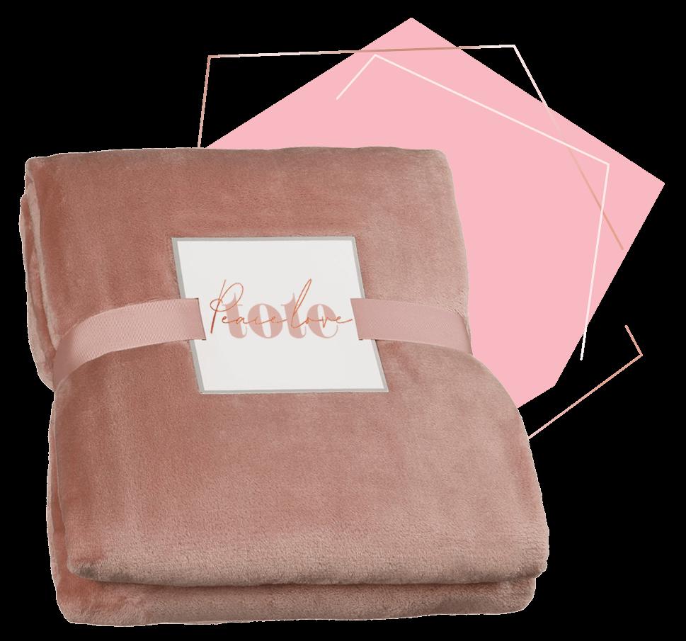 Peace Love Tote throw blanket